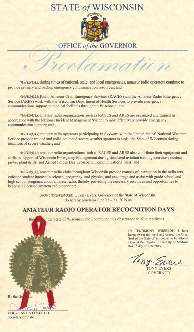 Click to read Proclamation